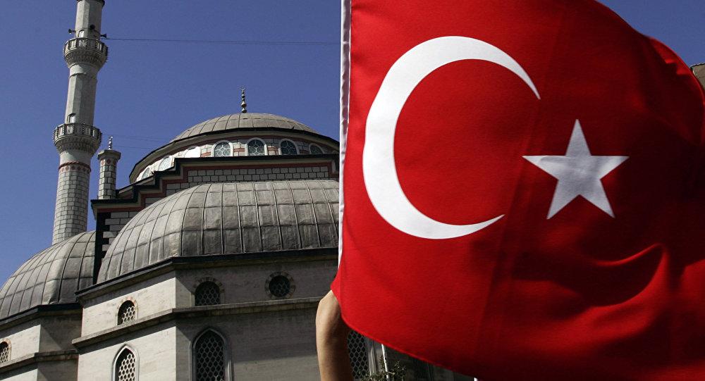 Турецкий флаг. Архивное фото.