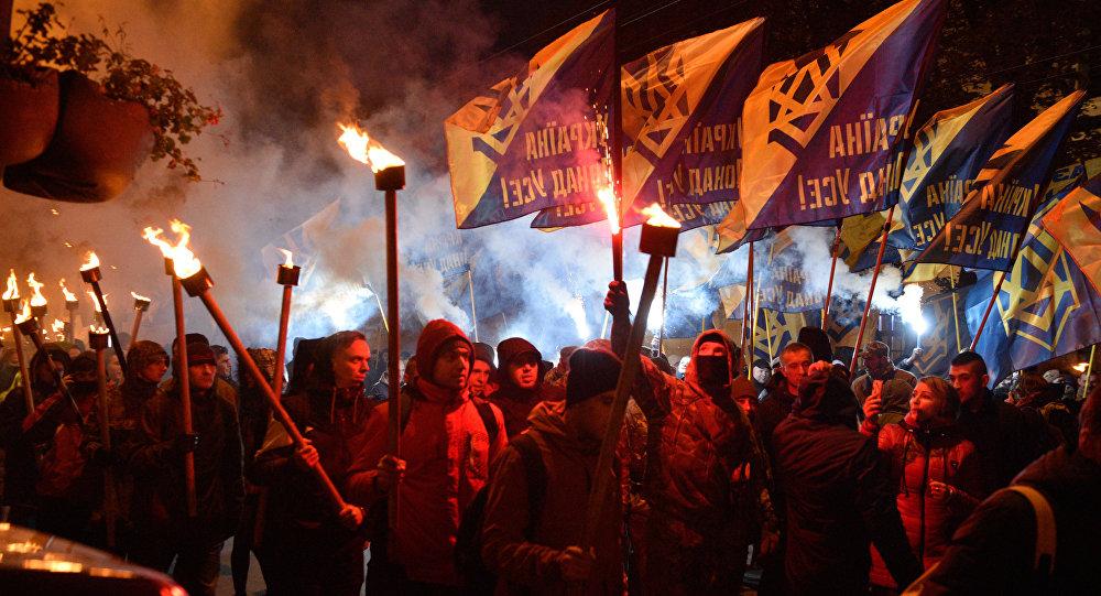 Мероприятия приуроченные к годовщине образования УПА на Украине. Архивное фото