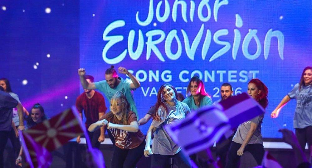 Сцена детского Евровидения, архивное фото